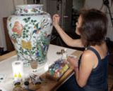 Penny restoring the Quing vase