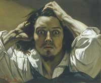 Jean-Désiré-Gustave Courbet - Self Portrait (The Desperate Man) ca 1843 © Private Collection, courtesy of BNP (*?)