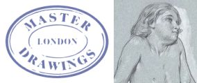 Master Drawings logo plus Frederic Leighton's Drawing of a Boy