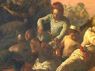 Francois Auguste Biard - The Slave Trade (1840) detail