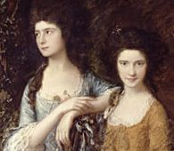 Thomas Gainsborough - The Linley Sisters (c. 1770) detail