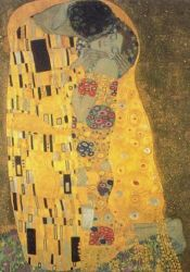 Gustav Klimt - The Kiss (1907-8) detail