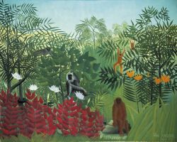Henri Rousseau - Tropical Forest with Monkeys (1910)