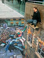 Julian Beever - Batman and Robin to the rescue (29/8/2006)