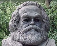 Bust of Karl Marx at Highgate Cemetery