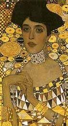 Gustav Klimt - Adele Bloch-Bauer (1907) detail