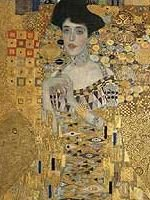 Gustav Klimt - Portrait of Adele Bloch-Bauer (1907) detail
