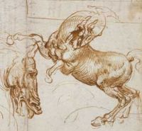 Leonardo da Vinci - Sketches of Horses (1505)