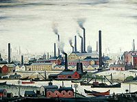 L.S. Lowry - A Riverbank (1947)