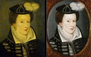 Mary Queen of Scots before and after cleaning