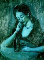 Pablo Picasso - Lady at Eden Concert (1903)