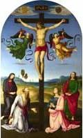 Raphael - Alterpiece: The Crucified Christ with the Virgin Mary, Saints and Angels (The Mond Crucifixion) c. 1502-3