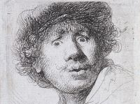 Rembrandt - Self-Portrait in a Cap (1630) etching