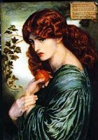 Detail of Proserpine by Dante Gabriel Rossetti (1877)