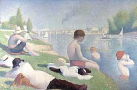 Seurat - Bathers at Asnières (1884)