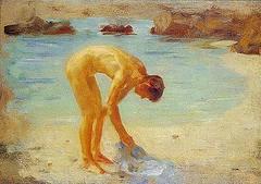 Henry Scott Tuke - Study (1928)