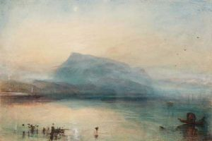 J.M.W. Turner - The Blue Rigi, Lake of Lucerne, Sunrise. (image copyright © Christie's Images Ltd)