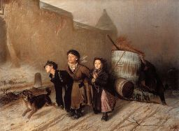 Vasily Perov - Troika, Apprentice Workmen Carrying Water (1866)