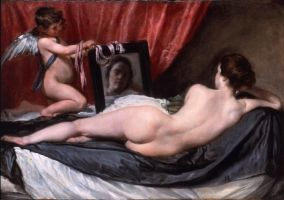 Velázquez - The Toilet of Venus (1647-51) also called The Rokeby Venus