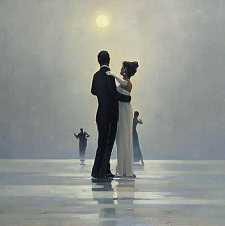 Jack Vettriano - Dance Me to the End of Love (the original oil painting is wider)