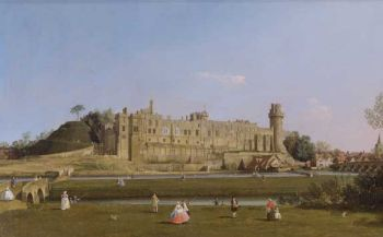 Canaletto - Warwick Castle, The South Front (c 1748-49)