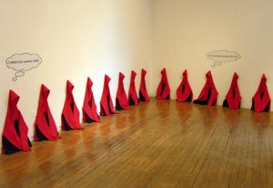 Keith Farquhar - 33 Red Hooded Figures Pass Judgment
