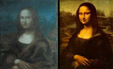 La Gioconda (left) and Leonardo's Mona Lisa