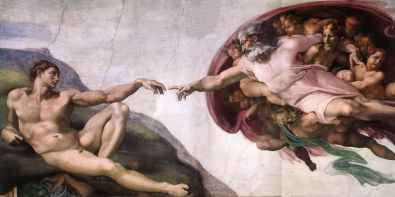 Michelangelo - The Creation of Adam (Creationism in a nutshell)