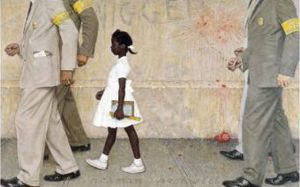 Norman Rockwell - The Problem We All Live With (1964) © 1964 Licensed by Norman Rockwell Licensing, Niles, Illinois