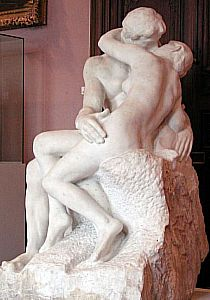 Auguste Rodin - The Kiss (1889) Coxsoft Art enhanced image