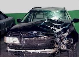 Auto di Basano distrutta
