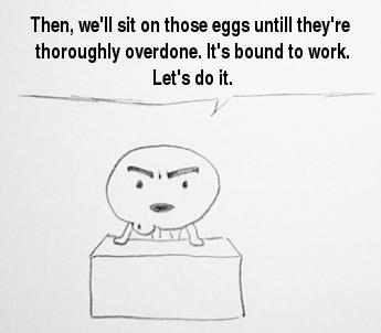 eggs overdone