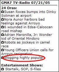 Blogging highly popular