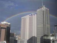 Rainbow over Sydney CBD