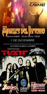 El flyer de Ratt en Guadalajara