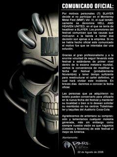 Oficial:   Monterrey Metal Fest POSPUESTO