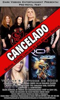 Saxon / Doro cancelado en Monterrey