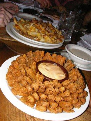Deep fried flower onion