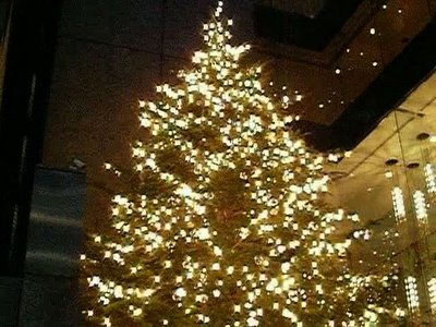 Christmas tree in Ginza.