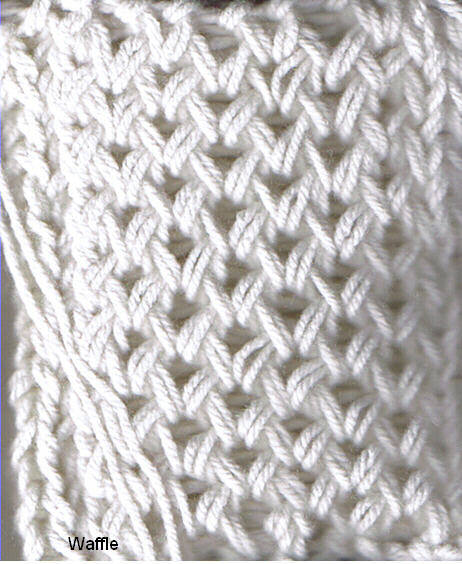 Crochet Stitch On Loom : Knitting-Looming-Machine Knitting, Crochet and other stuff: Waffle ...