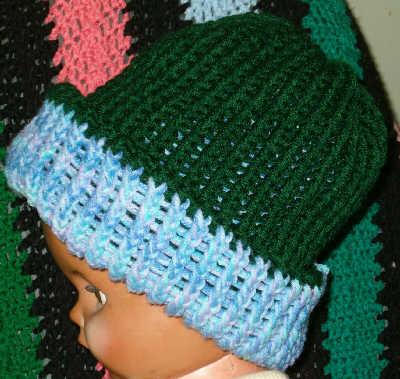 Double Knitting Patterns : stuff double knit hat on a round knitting loom pattern double knit ...