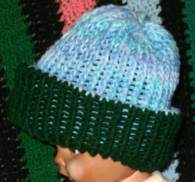 Knit Hat Pattern Round : Knitting-Looming-Machine Knitting, Crochet and other stuff: Double Knit Hat o...