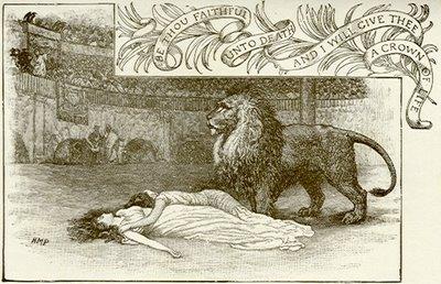 le lion refusant blandine