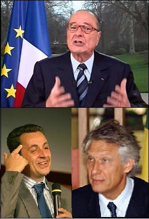Chirac Villepin Sarkozy