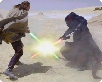 le duel laser
