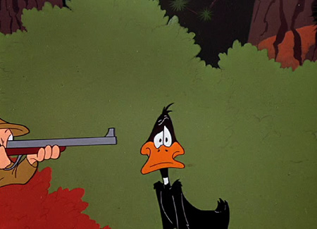 daffy duck shoot me now