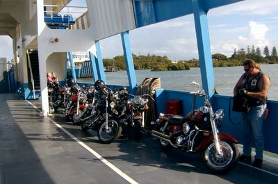 The bikes on the barge