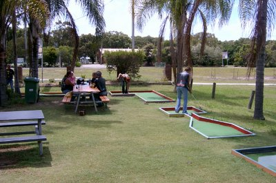 We stopped at 'The Local' for lunch - had putt-putt in the beer garden