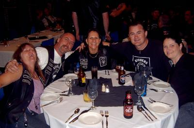 Skids, Slayer, Tiki, Koff and Kat at dinner on Saturday night