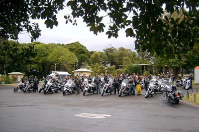 Group shot of all the Kobbers bikes just before our Sunday ride